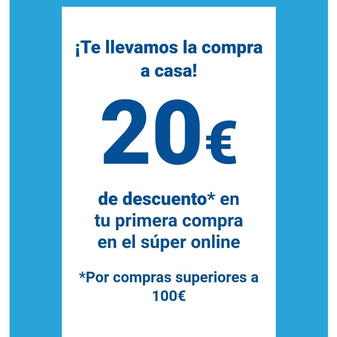 20 euros de descuento por compras de 100€ en solo una compra