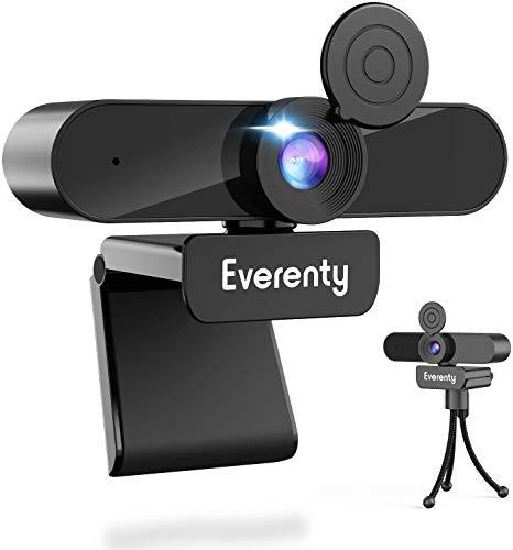 Everenty 1440P Full HD Webcam con Micrófono Estéreo