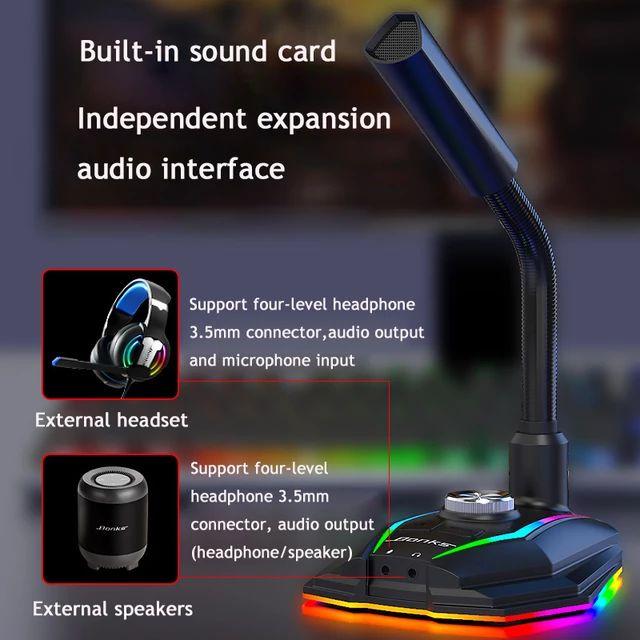 Micrófono Gaming RGB por USB