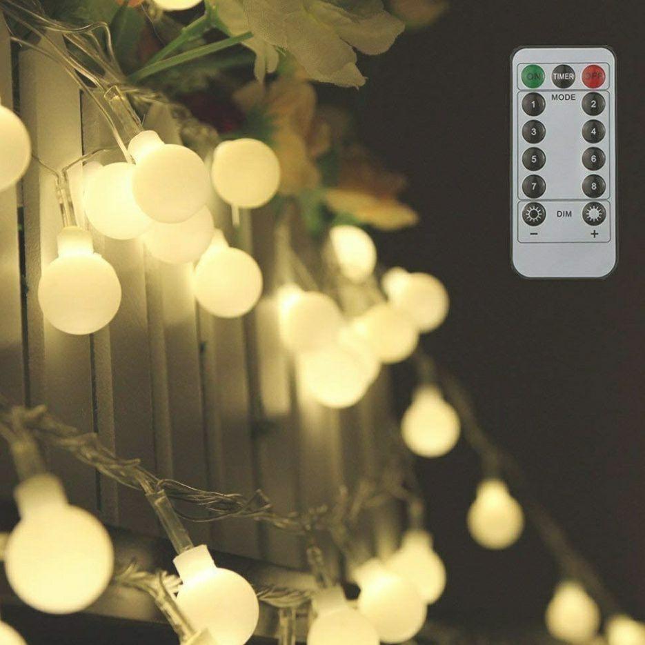 Guirnalda Tomshine de 10m con 80 luces LED color blanco cálido con control remoto para decoración (blanco cálido)