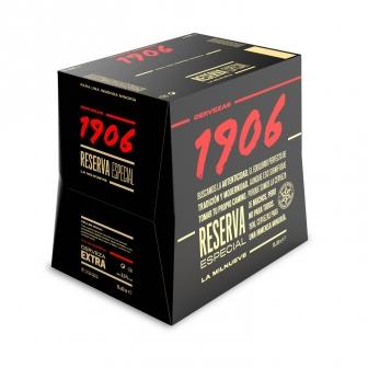 2 pack de 12 cervezas 1906 botellín 33 cl