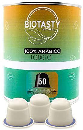 50 cápsulas de café Biotasty 100% arábigo