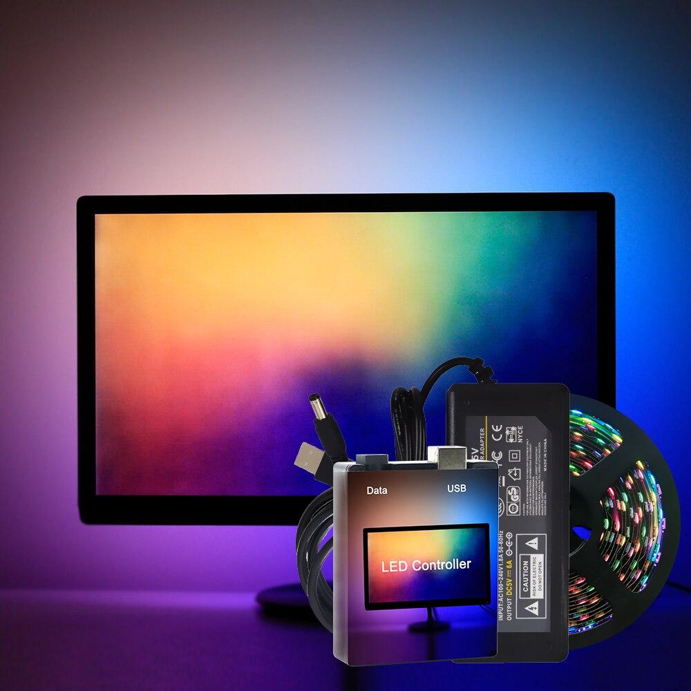 Iluminación RGB para monitor (o Android TV) con Ambilight