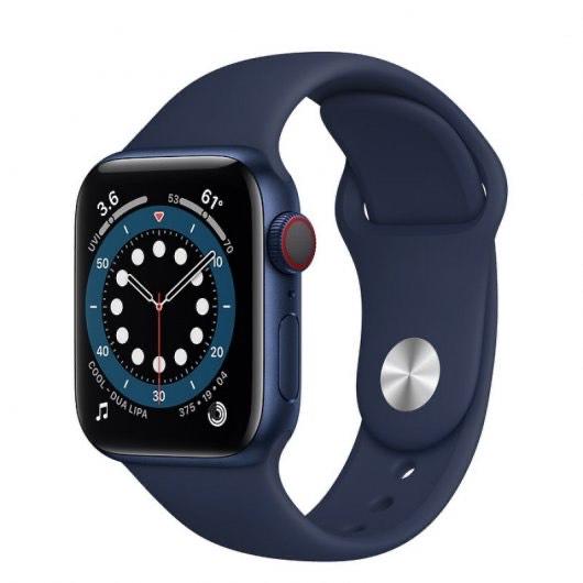Apple Watch Series 6 GPS + Cellular 40mm Aluminio en Azul con Correa Deportiva Azul Marino Intenso