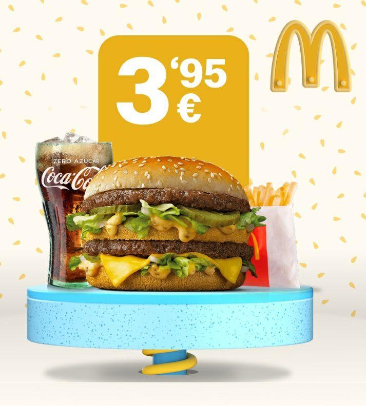Menú Big Mac o Mcpollo por 3,95€