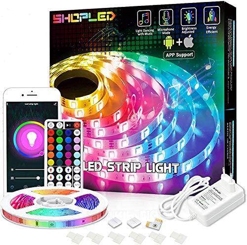 Tiras LED Compatible con Alexa/Google Home, 5M, WiFi, Control Remoto, con Música, multicolor