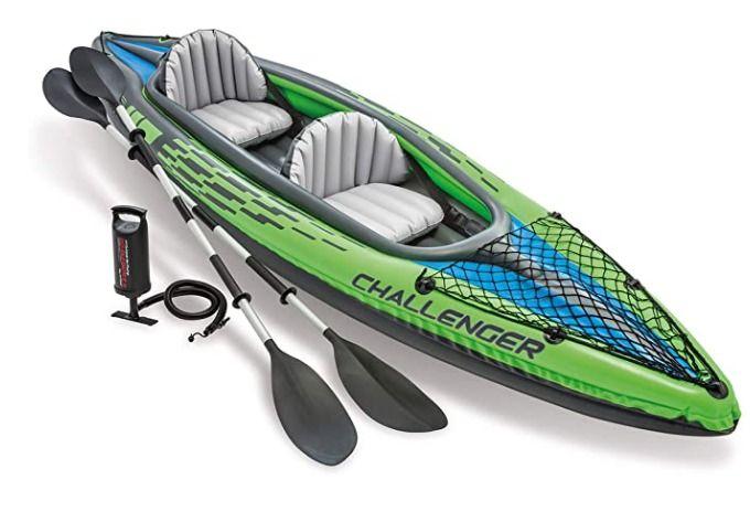 Kayak hinchable + remos + hinchador. 2 personas