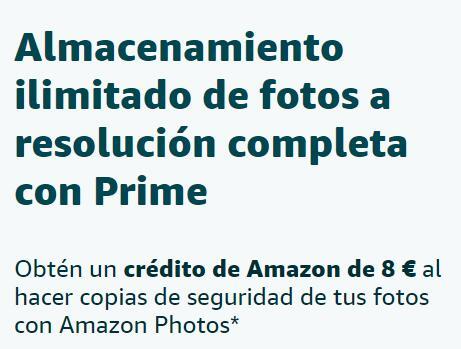 Promoción Amazon 8€ por hacer copia de seguridad (solo seleccionados)
