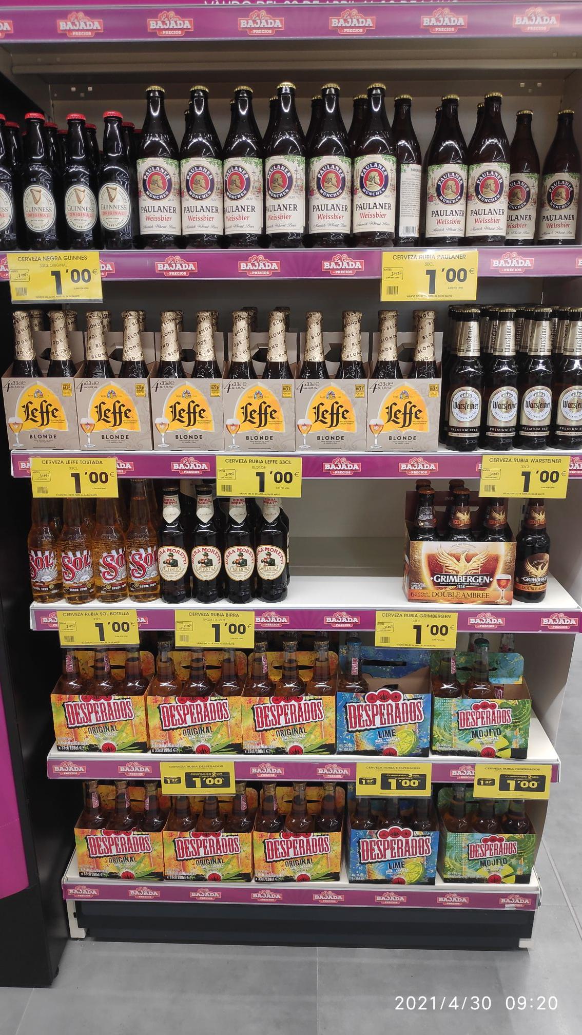 Paulaner y otras birras a 1€ en Ahorramas