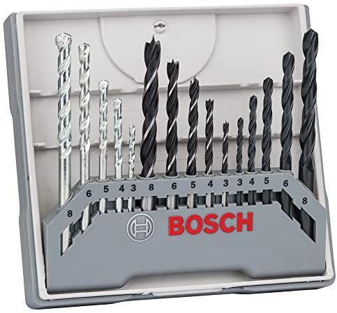 Bosch Professional Set mixto de 15 brocas