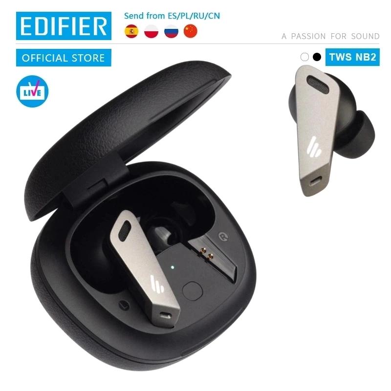 EDIFIER-auriculares TWSNB2 Pro TWS ANC con bluetooth 5.0, dispositivo con cancelación activa de ruido