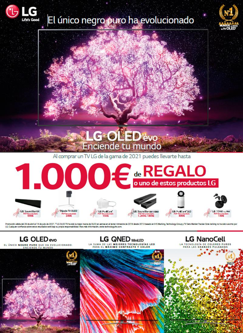 Compra un Televisor LG OLED, QNED o Nanocell y elige entre un reembolso determinado