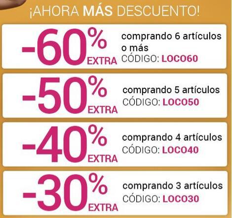 ¡Días Locos! Hasta -60% EXTRA DESCUENTO Magic Outlet