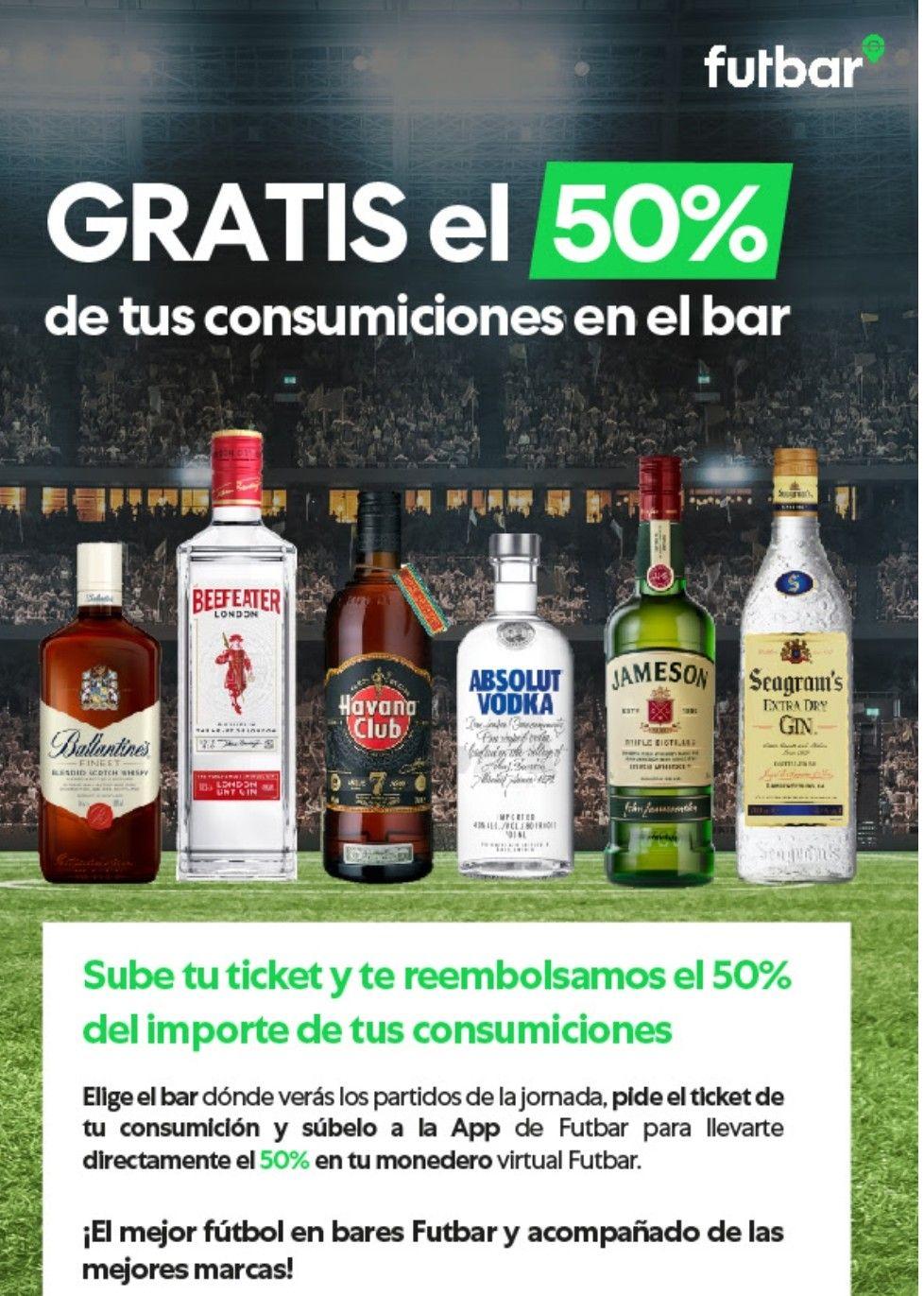 ¡Te devolvemos la mitad de tus consumiciones en el bar!