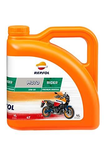 REPSOL Moto Rider 4T 15W-50 Aceite De Motor Para Moto, 4 Litros
