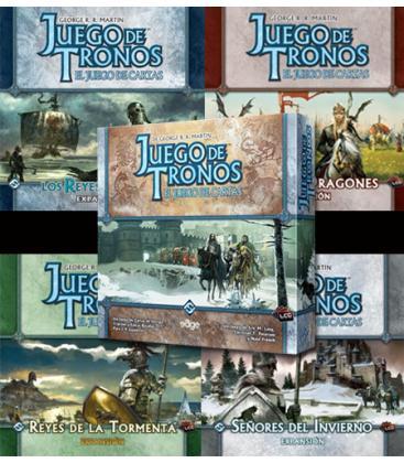 TronoPACK Juego De Tronos LCG 1ª Edición: Caja de inicio + 4 Expansiones