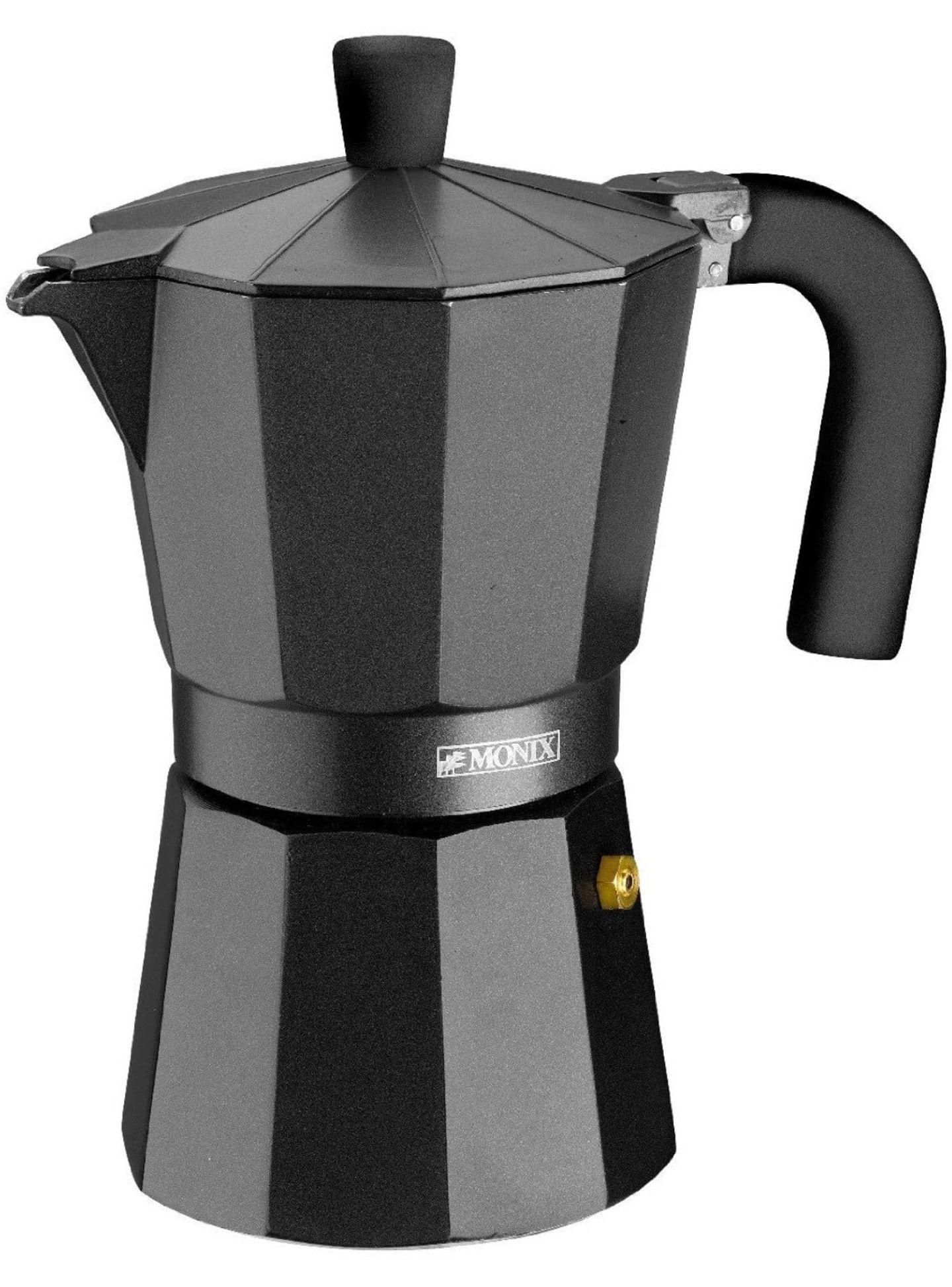 Monix Vitro Noir – Cafetera Italiana de aluminio 6 tazas