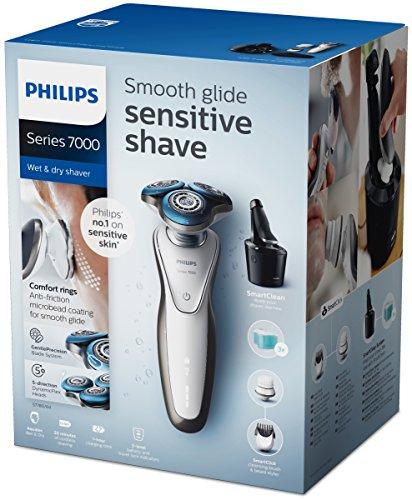 Ofertón - Philips S7780/64 - Afeitadora electrica, uso en seco y humedo, incluye smartclean, barbero, cepillo cara y funda de viaje