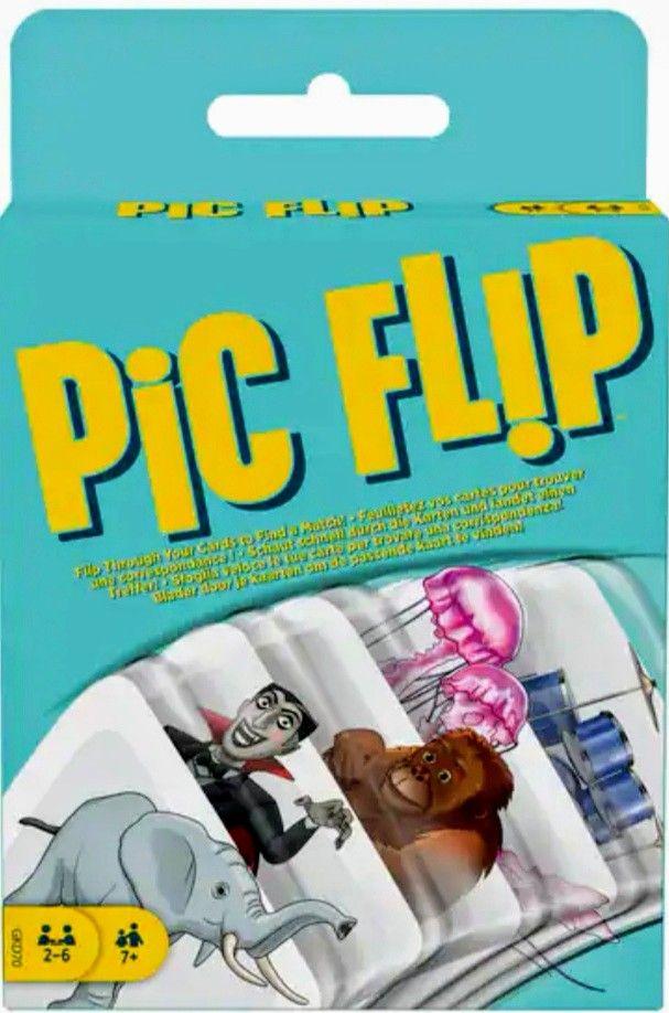 """Mattel Games _Juego de Cartas """" FLIP PIC"""" [ TB en Amazon ]"""