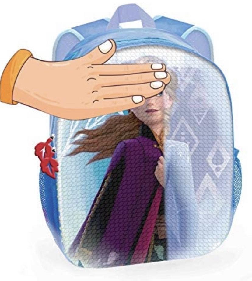 Toy Bags Mochila con Lentejuelas Reversibles Elsa o Ana tú eliges