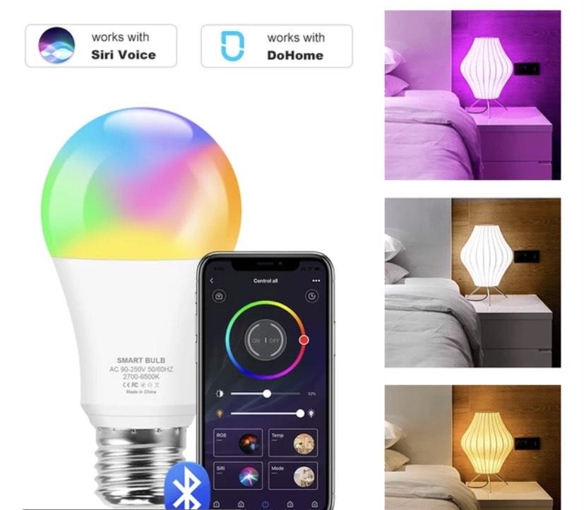 Bombilla inteligente LED RGB