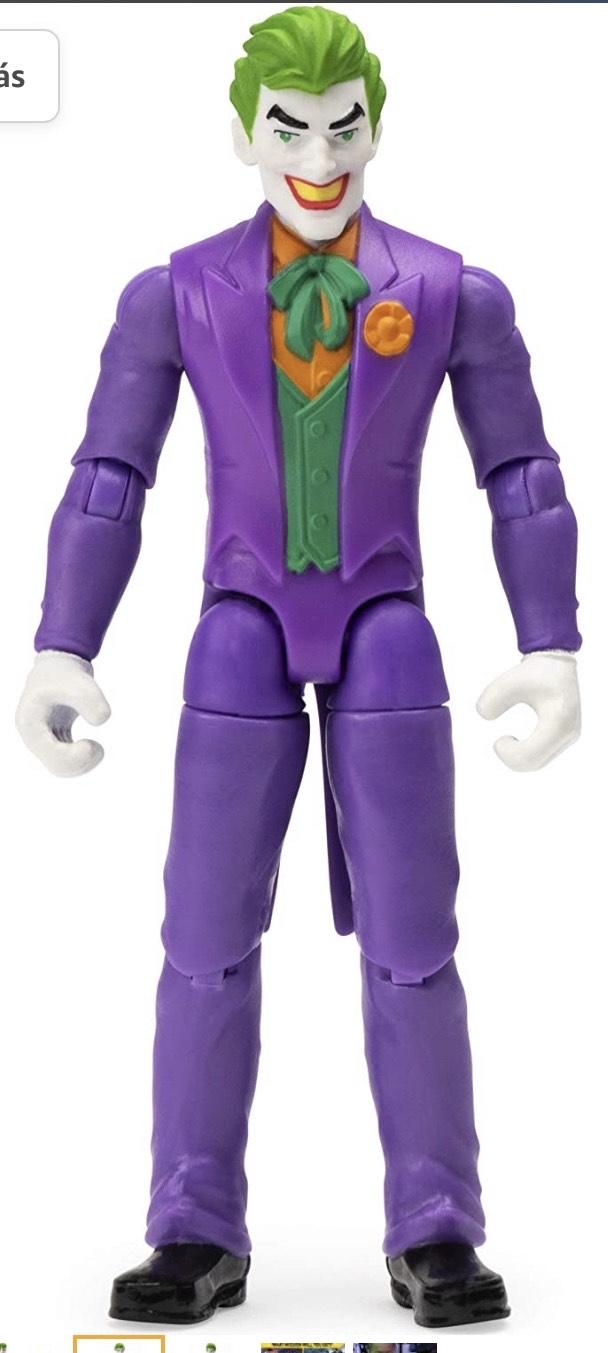 DC Comics Batman, Figura de acción The Joker de 4 Pulgadas con 3 Accesorios misteriosos