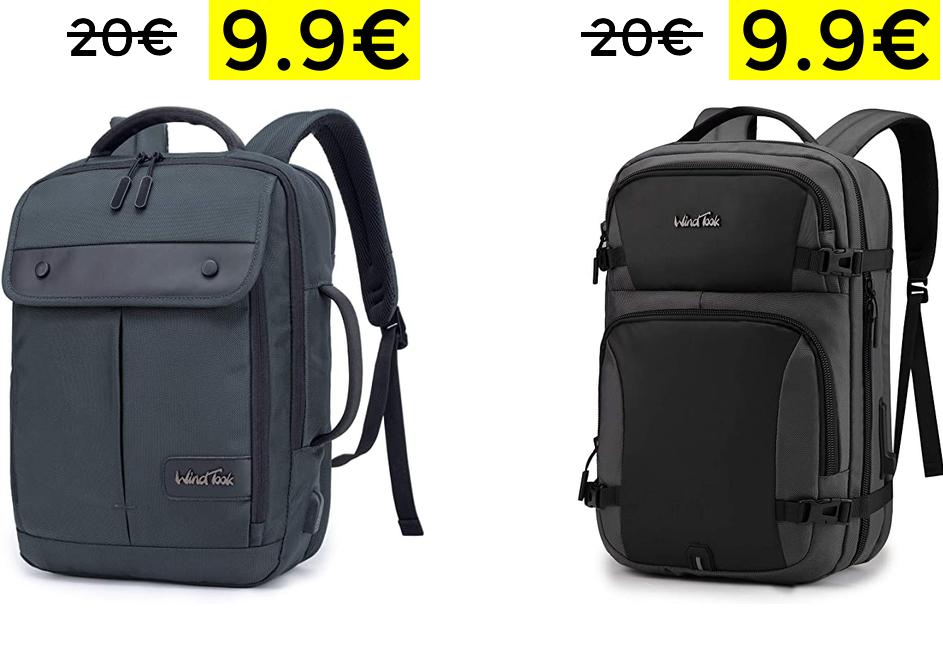 """Mochilas portátiles 15,6"""" puerto USB 9.9€"""