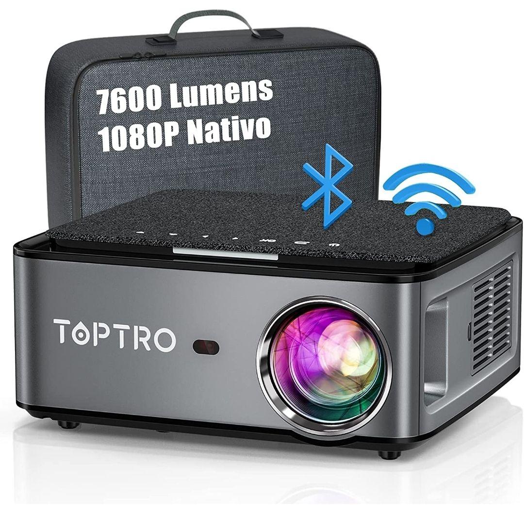 Proyector WiFi Bluetooth, TOPTRO 7600 Lúmenes