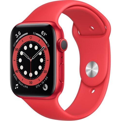 Apple Watch Series 6 GPS - 44mm Caja de Aluminio en Rojo con Correa Deportiva Rojo - M00M3