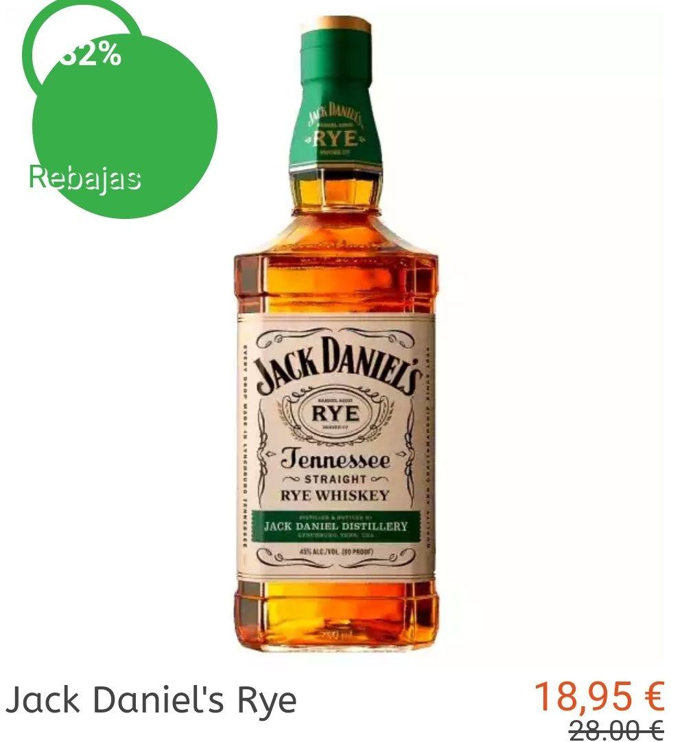 Jack Daniel's Rye a buen precio