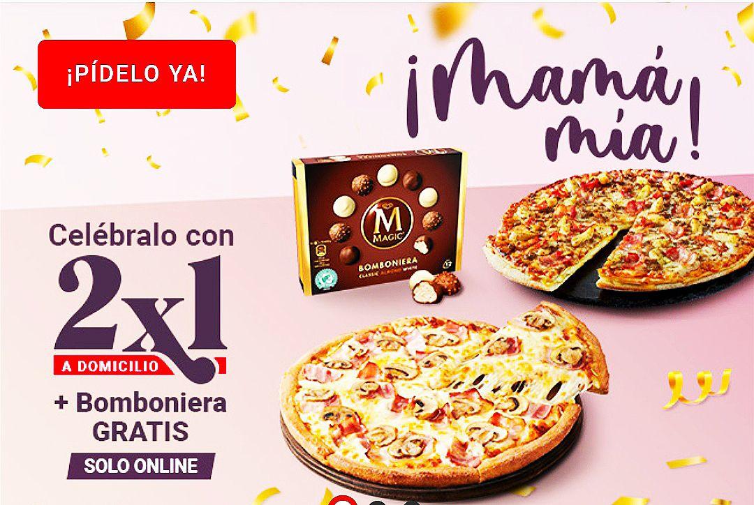 Telepizza 2x1 + bomboniera gratis (domicilio)