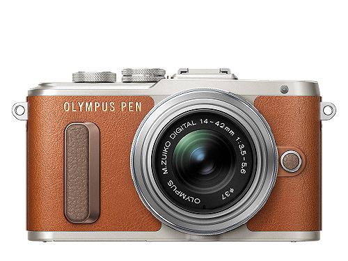 Cámara Olympus Pen E-PL8 marrón + objetivo + flash