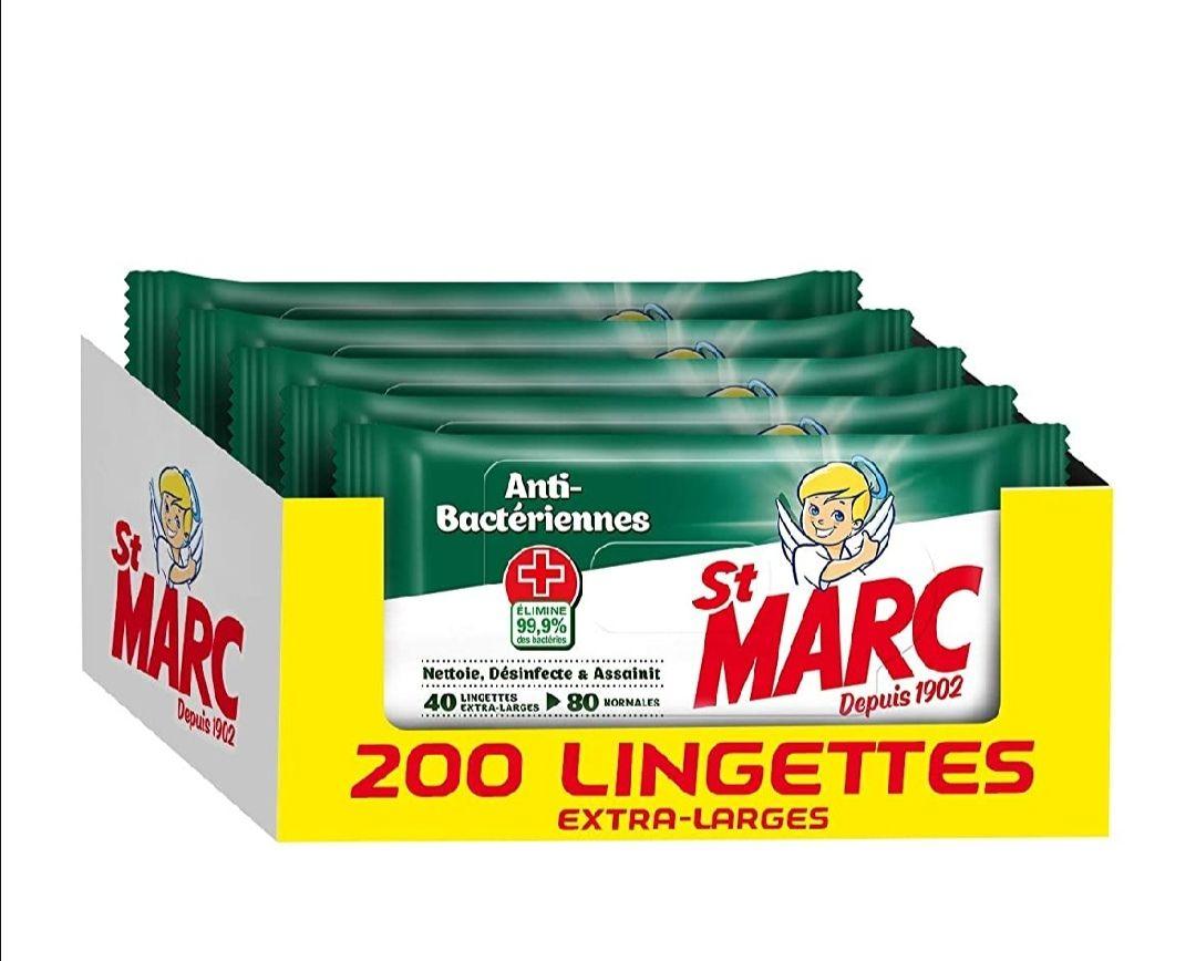 200 toallitas Desinfectantes antibacterias (40x5)