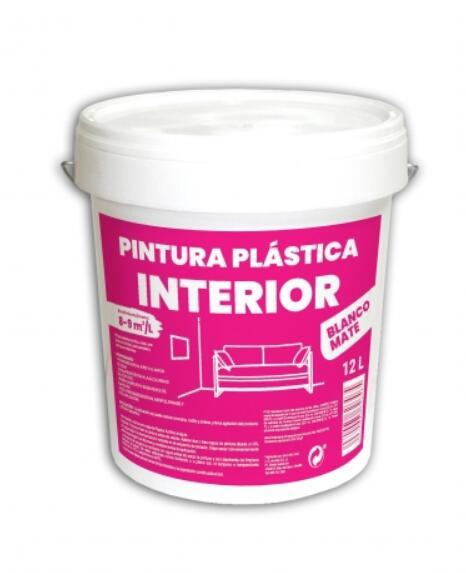 Pinturas Plástica Interior Blanco Mate 12 litros