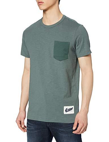 G-STAR RAW Contrast Pocket Straight Camiseta para Hombre (Talla S)