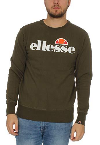 Ellesse SL Succiso Sweatshirt - Color Khaki Hombre (Talla XS)