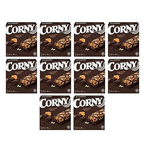 10 cajas!! Hero Corny barritas de Chocolate Negro