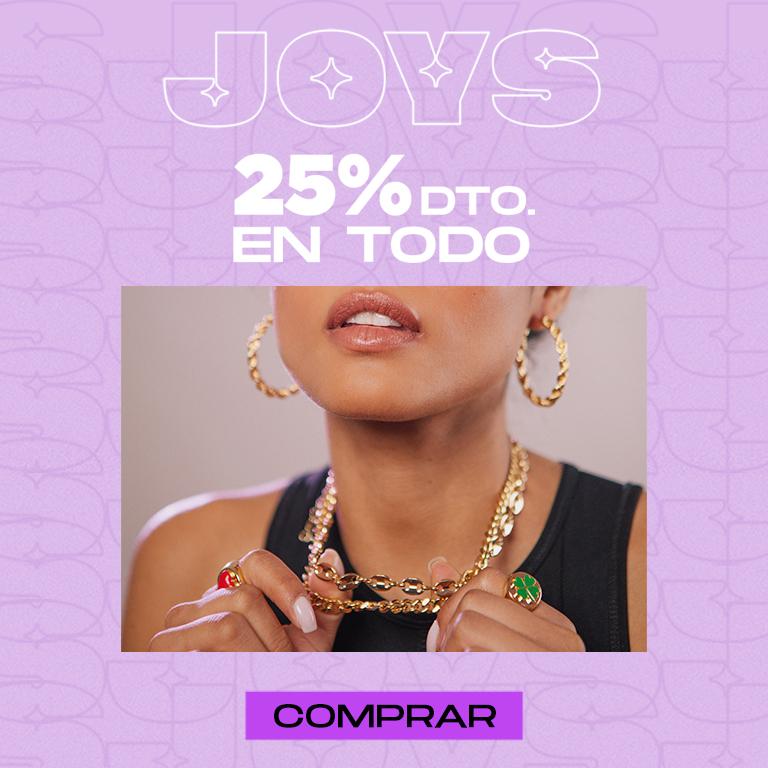 25 % de descuento en Joys (Marca de bisutería y joyería)