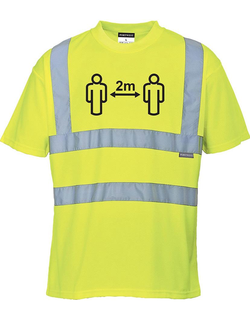 Social Distance - Camiseta transpirable con cinta reflectante
