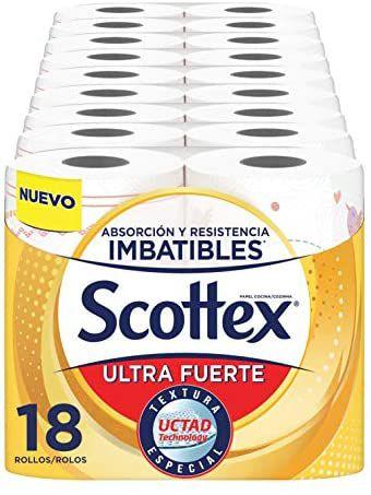 Scottex Papel de Cocina Ultra Fuerte - Pack de 18 Rollos (Compra recurrente)