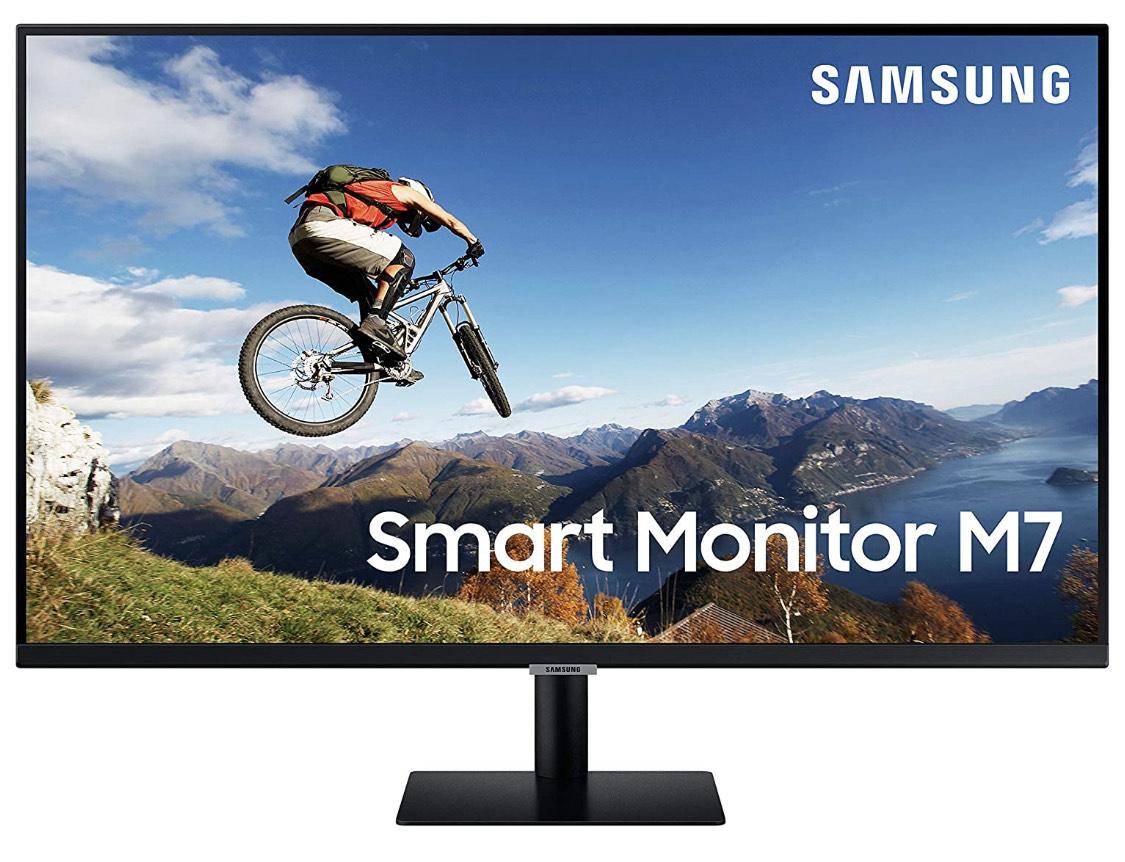 Samsung Smart M7 de 32 pulgadas LS32AM702URXEN 4K (3840x2160), Altavoces, Mando a Distancia, USB-C y Aplicaciones de Smart TV