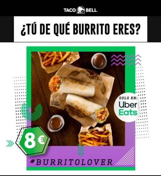 Burrito San Diego + Burrito California + 2 de patatas + 2 Chocoballs por solo 8€ solo en Uber Eats