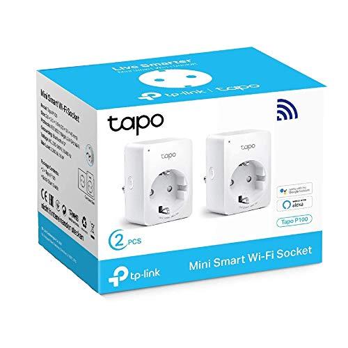 TP-LINK TAPO P100 Enchufe Inteligente - Pack de 2 a 9,99€