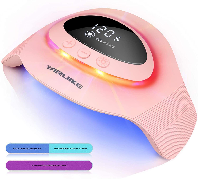 Lampara Secadora de Uñas LED/UV,Con sensor automático y luz ambiental,