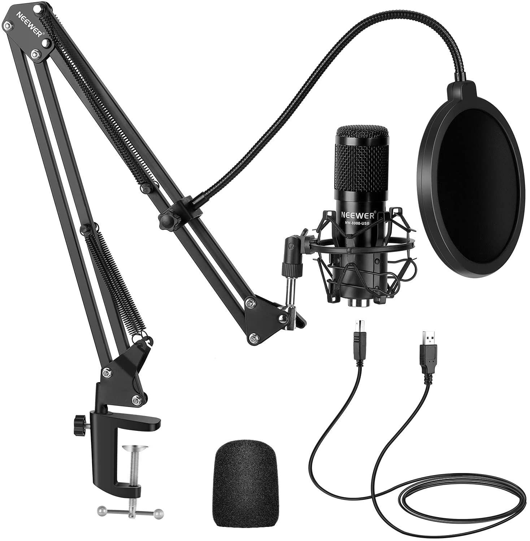 Neewer USB Micrófono Kit 192KHZ / 24BIT Plug & Play