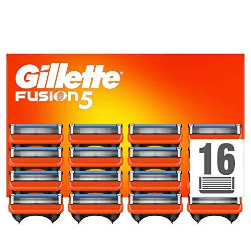 Gillette Fusion 5 Cuchillas de Afeitar Hombre, Paquete de 16 Cuchillas