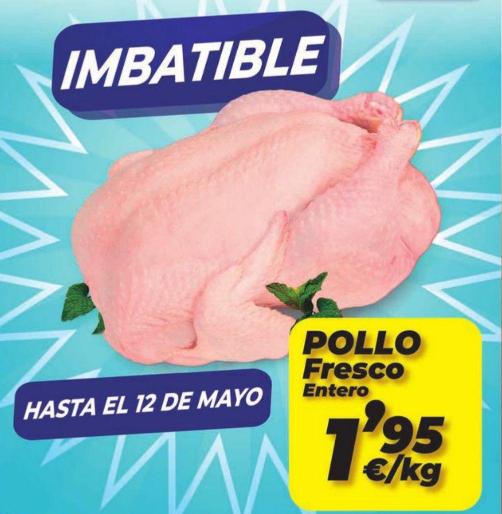 Pollo entero fresco 1,95€kg