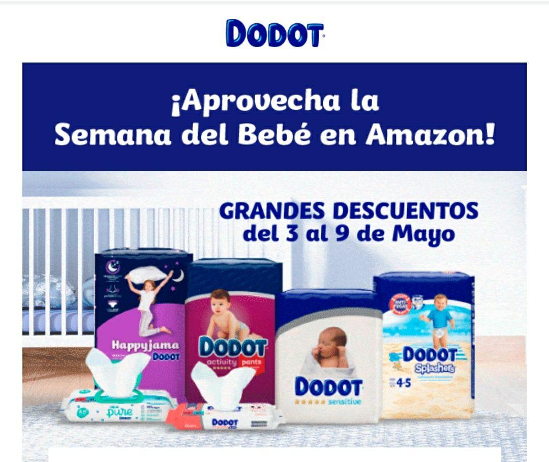 Semana del bebé en Amazon con descuentos en pañales Dodot y muchas más cosas