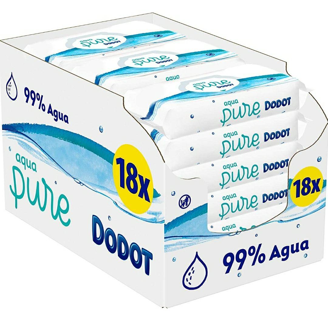 18 paquetes toallitas bebé Dodot Aqua Pure