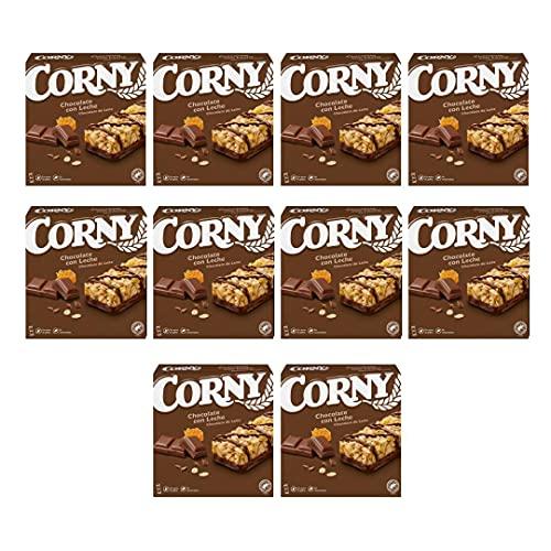 10 cajas de Hero Corny barritas de Chocolate con Leche!
